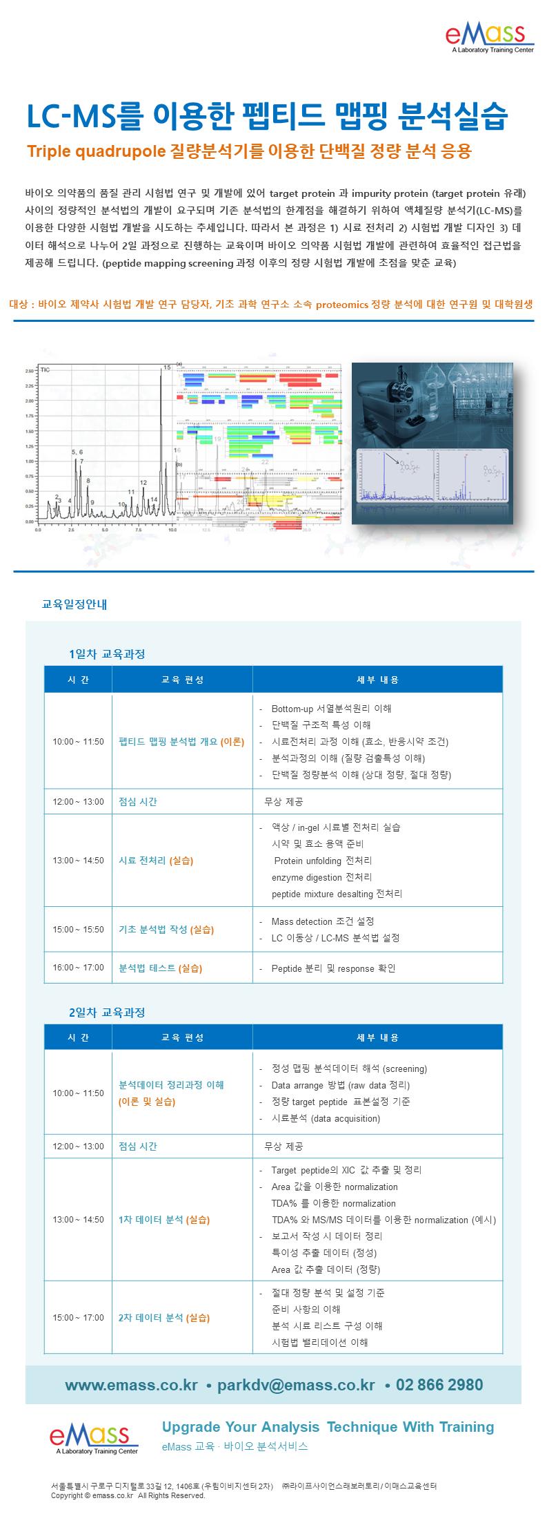 LCMS를 이용한 펩티드맵핑 분석실습_2일 과정.png