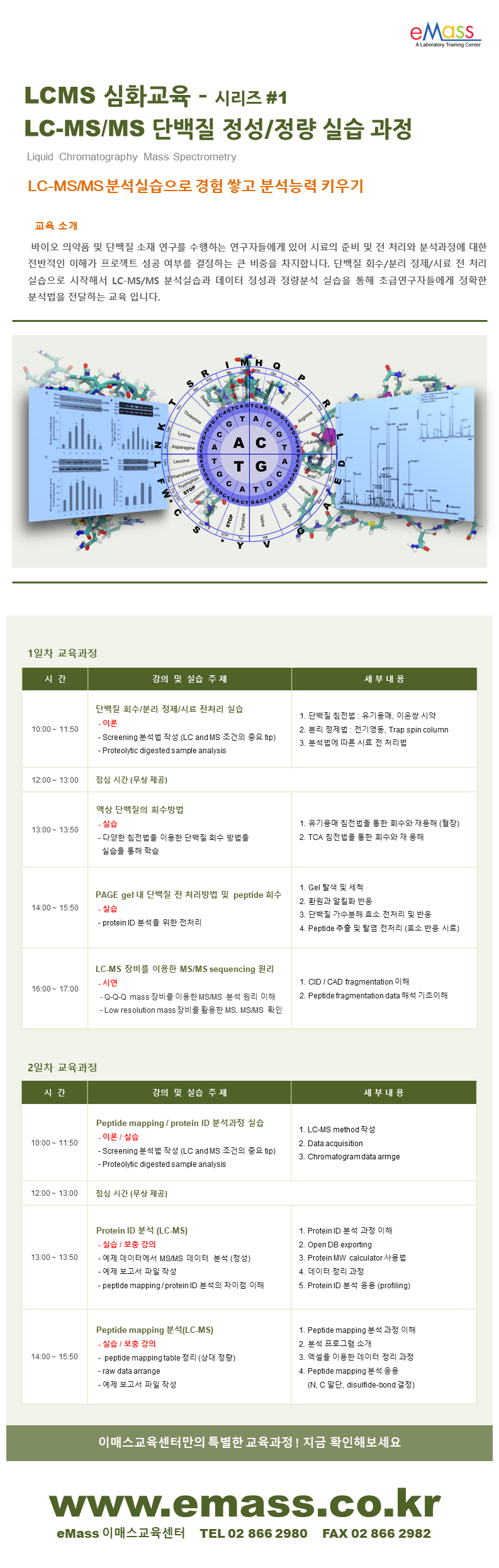 LCMS 심화교육_단밸질 정성정량 실습 과정.png